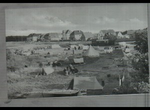 Neg4732/ St. Peter-Ording Campingplatz altes Negativ 50/60er Jahre
