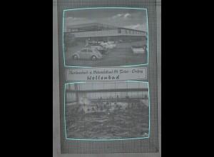 Neg4729/ St. Peter-Ording Wellenbad Autos altes Negativ 60er Jahre