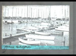 Neg4688/ Schleswig Segelschiffhafen altes Negativ 40/50er Jahre