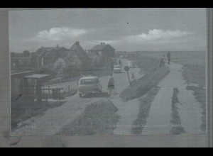 Neg4613/ Nordstrand Norderhafen, Autos altes Negativ 60er Jahre