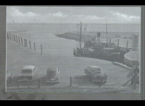 Neg4612/ Nordstrand Neuer Hafen, Autos altes Negativ 60er Jahre