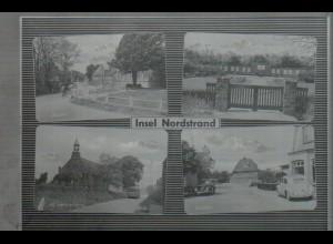 Neg4610/ Insel Nordstrand Autos VW Käfer altes Negativ 50er Jahre