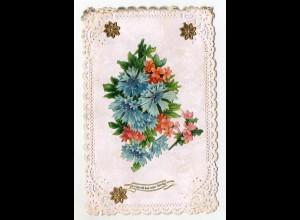 Y9303/ Oblate aufgeklebt Blumen ca.1910