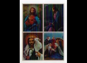 DP359/ 3 D Karte AK Jesus Quartett ca.1970