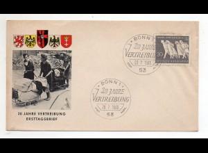 Y10140/ Ersttagsbrief 20 Jahre Vertreibung 1965 Flüchtlinge
