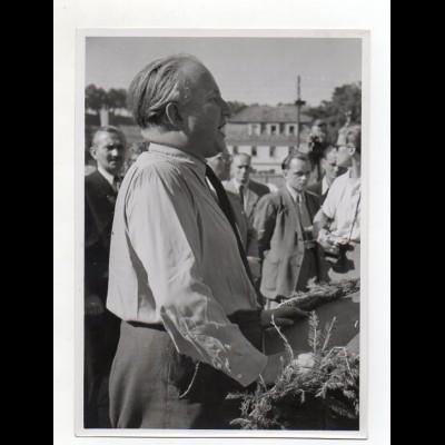 C2874/ Bundesverkehrsminister Seebohm in Regensburg 1951 Foto 17,5 x 13 cm