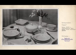 C2942/ Hutschenreuther Geschirr Juwel FOTO ca.1955 21,5 x 14 cm