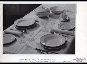 C2941/ Hutschenreuther Geschirr Elite Entwurf Proff. Hillebrand FOTO ca.1955