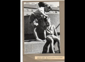C2937/ Jungen Kinder spielen Foto ca.1940/50 23,5 x 16 cm