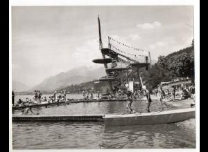 C2936/ Millstadt Kärnten Strandbad Badeanstalt Foto 23 x 18 cm ca. 1960