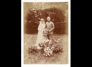 C2959/ Hochzeit Soldat heiratet schönes Foto ca.1938 16,5 x 12 cm