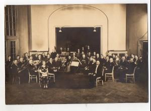 C2958/ Orchester Musik Foto ca. 1930 17 x11,5 cm