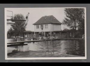 U3246-2720/ Rotenburg Badeanstalt Schwimmbad Foto AK ca.1950