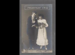 Y9727/ Student und Frau Foto AK ca.1912