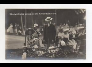 U3274/ Die drei ältesten Söhne unseres Kronprinzenpaares Foto AK ca.1912