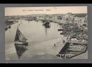 U3277/ Swinemünde Hafen Schiffe Pommern AK ca.1910