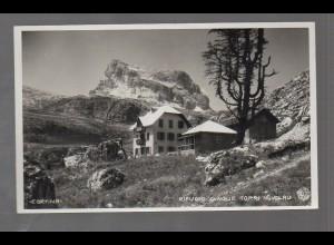 U3286/ Cortina Rifugio Cinque Torri Nuvolau Italien Dolomiten Foto AK ca.1935
