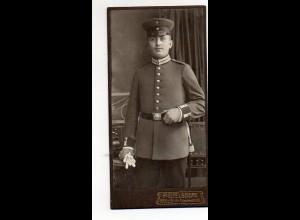 Y9784/ CDV Foto Soldat Atelier Paul Eitelsberg , Berlin ca.1905