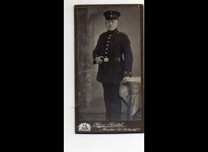 Y9787/ CDV Foto Soldat Atelier Hans Kastel, Minden ca.1910