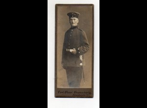 Y9769/ CDV Foto Soldat Militär Atelier P. Glauer, Braunschweig ca.1910