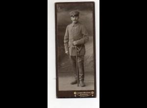 Y9771/ CDV Foto Soldat Militär Atelier L. Mertens, Rendsburg ca.1910
