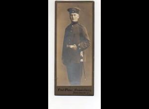 Y9773/ CDV Foto Soldat Militär Atelier P.Glaue, Braunschweig ca. 1910