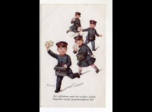 Y9842/ Jungdeutschland Kinder als Briefträger Ak ca.1915
