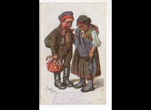 Y9848/ Bayern-Trachten AK Kind als Soldat 1915