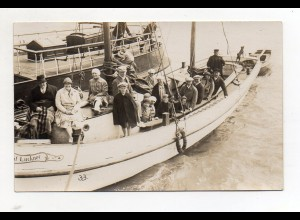 XX00685/ Fahrt von Norddorf Amrum nach Hallig Hooge 1929 Foto AK