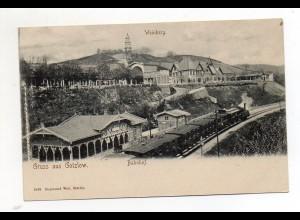 XX00660/ Gotzlow bei Stettin Bahnhof Pommern AK ca.1900