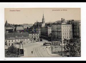 XX00692/ Dresden Plauen Bienertmühle Straßenbahn AK ca.1912