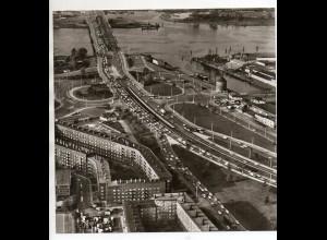 C3564/ Hamburg Auf der Veddel Luftaufnahme 1965 21 x 21 cm
