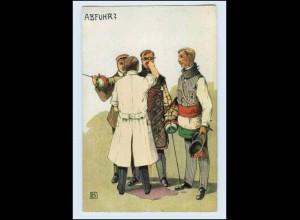 "A7373/ Studenten Künstler AK ""Abfuhr?"" ca.1912"