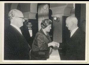 c068/ Bundespräsident Lübke beim Empfang Hamburg Rathaus - tolles Foto ca. 1965