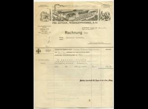 c015/ Rechnung Litho Eystrup Leman Mühlenwerke 1930
