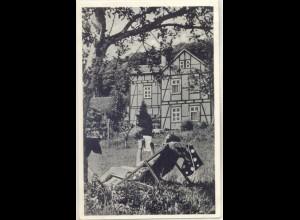 b1472/ Hann.-Münden Pension Rudolph AK 1957