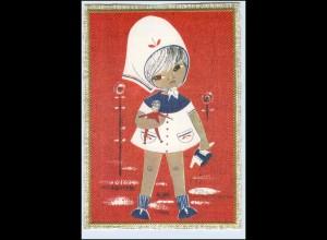 P2Q00/ Mädchen Teenager mit Puppe schöne Krüger AK ca.1965