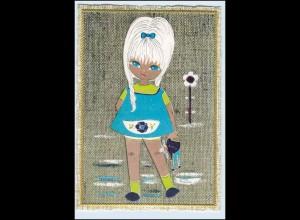 P2Q05/ Mädchen Teenager mit Puppe schöne Krüger AK ca.1965