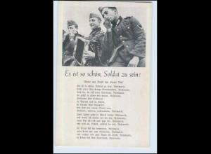 P2V45/ Lieder AK Militär - Es ist schön, Soldat zu sein! ca.1940