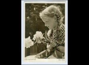 P3C29/ Muttertag schöne AK Mädchen mit Blumen ca.1955