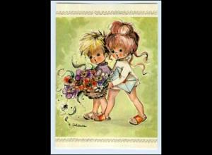 P3C82/ A. Adam AK Kinder mit Blumen ca. 1965