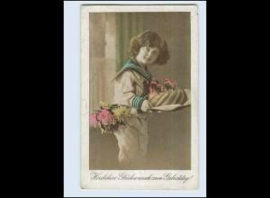 P3A99/ Geburtstag Kind mit Kuchen 1924 AK