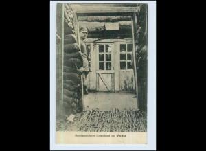 P3C05/ Bombensicherer Unterstand vor Verdun 1. Weltkrieg AK 1916