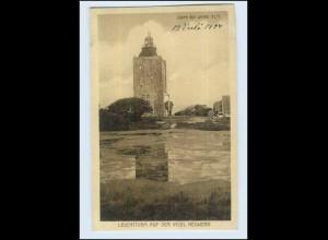 P3E42/ Hamburg Insel Neuwerk Leuchtturm AK 1927