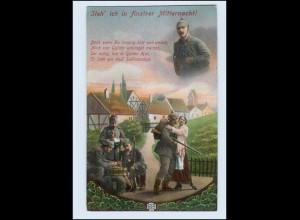 P3F59/ Steh`ich in finstrer Mitternacht! Soldaten 1. Weltkrieg AK 1915