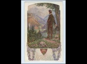 P3G03/ Deutscher Schulverein Nr. 1044 Künstler AK Wandern ca.1915