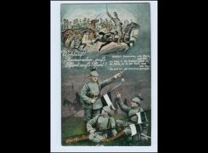 P3F58/ Wohlauf! Kameraden, aufs Pferd 1. Weltkrieg AK 1915