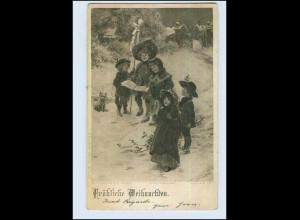 P3K59/ Weihnachten Kinder singen Künstler AK P. Tarrant 1908
