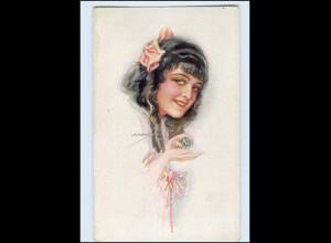P3K28/ Junge Frau mit Parfum Künstler AK Usabal 1918