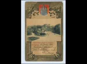 P3J57/ Hamburg Seewarte - Knackstedt & Näther AK Wappen 1901